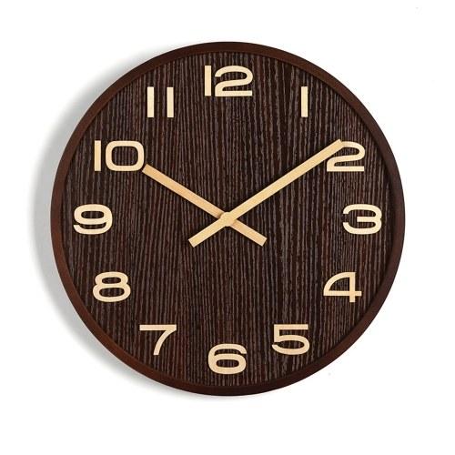 10'' Wooden Decorative Wall Clock