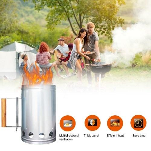 Arrancador de chimenea compacto Rapidfire Arrancador de carbón rápido Gran capacidad Resistencia al óxido Parrilla Barbacoa Barbacoa Chimenea Encendedor Cocina al aire libre Camping