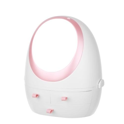 Scatola portaoggetti cosmetica con custodia per prodotti per la cura della pelle portatile a specchio