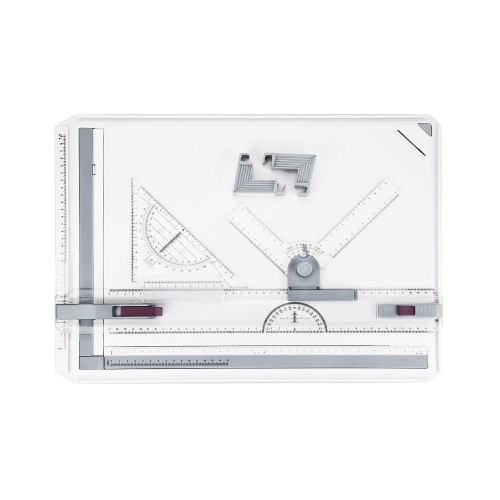 A3 Drafting Table Drawing Board, Drawing Tool Set Graphic Architectural Sketch Board with Parallel Motion