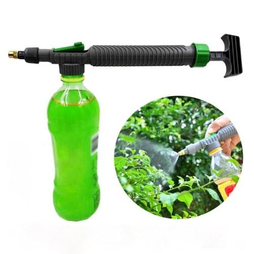 ガーデニングフラワーウォーターボトル噴霧器調節可能なツイストノズルドリンクボトル噴霧器手動ポンプノズル