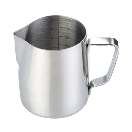 304 Stainless Steel Milk Frothing Pitcher 350ml Milk Coffee Measurements Steaming Pitchers