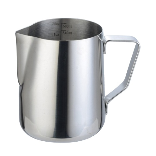 304 Stainless Steel Milk Frothing Pitcher 600ml Milk Coffee Measurements Steaming Pitchers Suitable