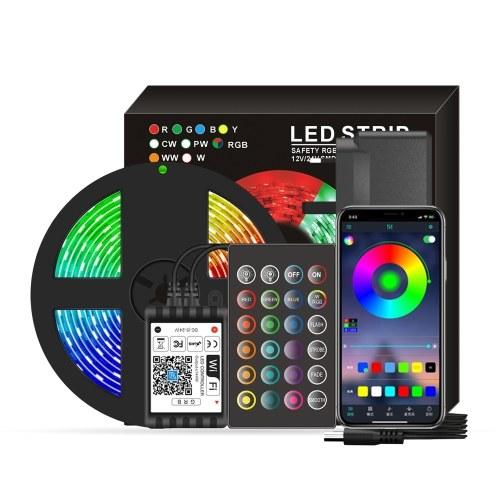 Smart Wifi LED RGB Strip Lights 16.4ft. 5050 Color Changing Lights