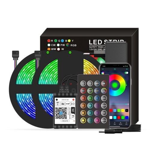 La bande intelligente de Wifi LED RGB allume IP65 étanche 32.8ft. 5050 lumières changeantes de couleur