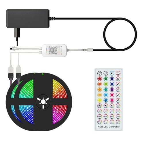 Tiras de luces LED inteligentes RGB 32.8ft. 5050 luces que cambian de color