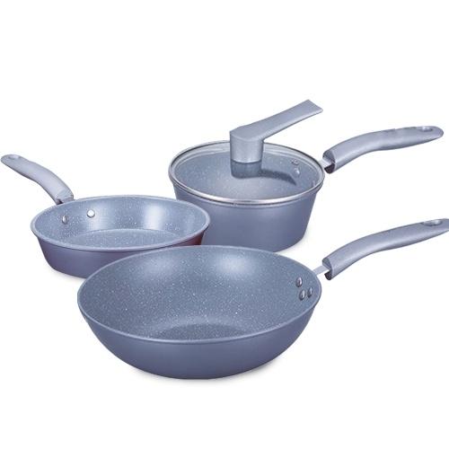 Juego de utensilios de cocina 3PCS Sartén antiadherente