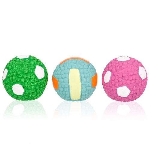 Juguete de la bola del animal doméstico del perro 3PCS