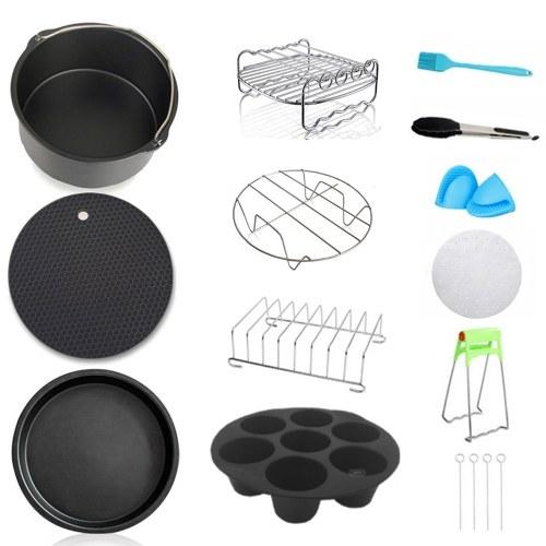12pcs Carbon Steel Fine Quality Air Fryer Accessories Kit