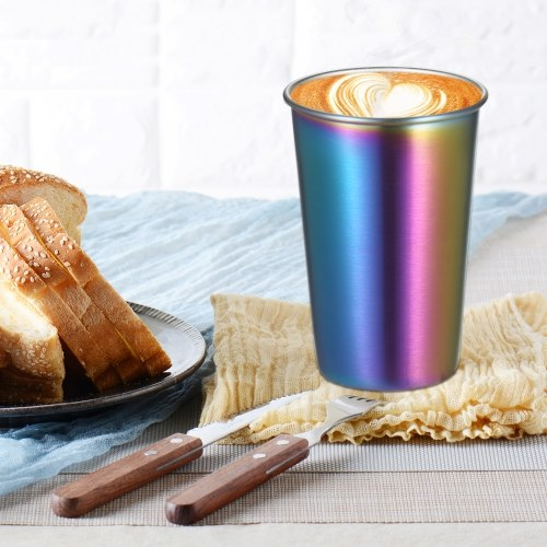 10 Pack 500ML Rainbow Stainless Steel Cup