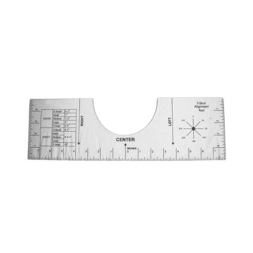 T-Shirt Alignment Ruler Craft Ruler