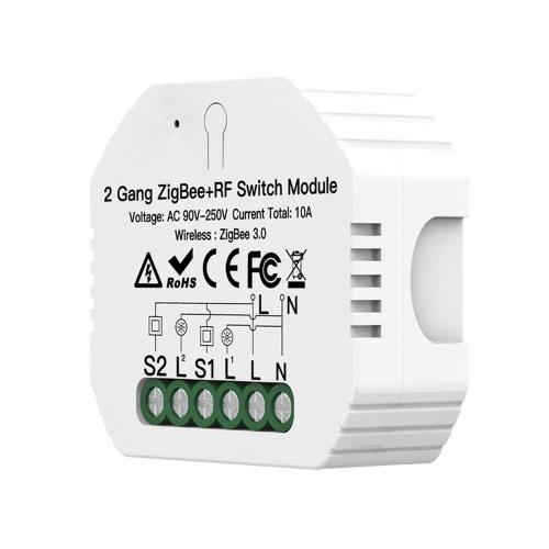 Módulo de switch 2 Gang ZigBee