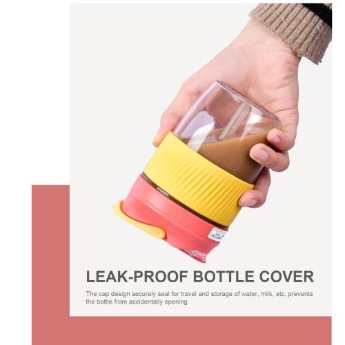 400mL Water Bottle with Straw Leak Proof Coffee Bottle