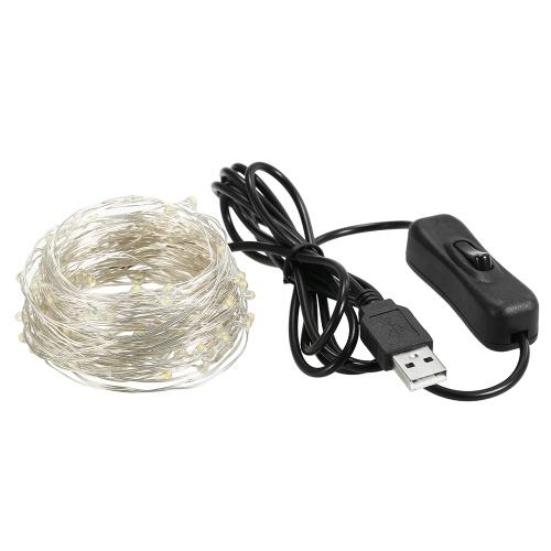 Fairy Lights 12м 120 светодиодов Струнные светильники