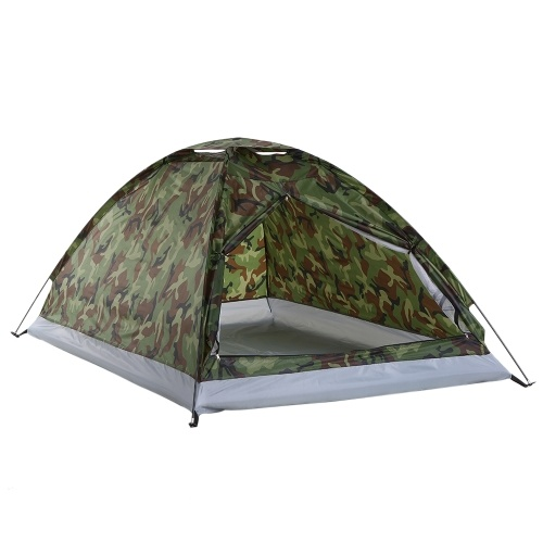2 Person Layer Outdoor Portable Camouflage Camping Tent