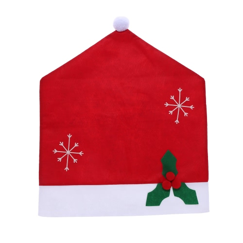 55*48cm Non-woven Fabrics Christmas Hat Chair Back Cover Christmas Decoration for Dining Room