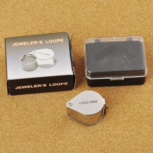 10 の × 宝石ルーペ拡大鏡 21 ミリメートル レンズ