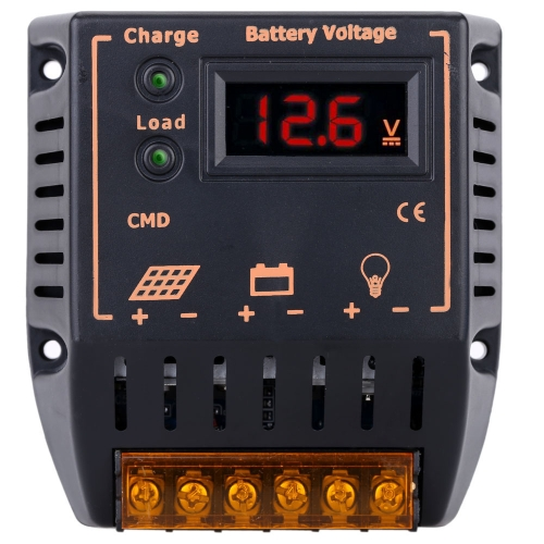 Decdeal 10A 12V/24V LCD Display Solar Charge Controller Auto Regulator Solar Panel Battery System Overcharge Protection