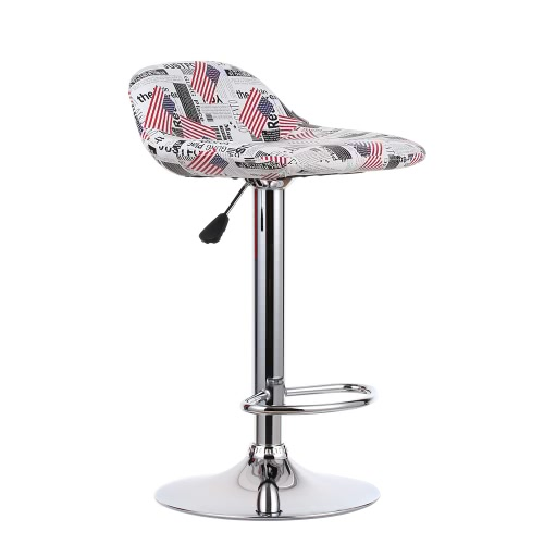 iKayaa 2ST / Set bestehend aus 2 Pneumatic PU-Leder Swivel Barhocker Stühle Höhenverstellbarer Pub Zähler Barhocker Dinning Stuhl