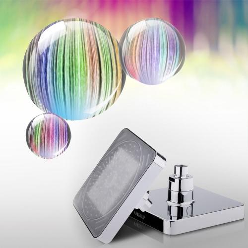 """Sama 6 """"automatyczna głowica prysznicowa LED prysznicowa głowica prysznicowa do regulacji temperatury w łazienkach 3 kolory zmienia się"""