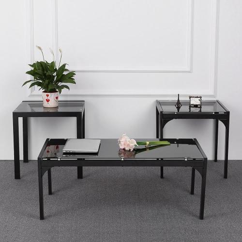 iKayaa elegante moderno de la tabla del metal del marco de café con el coctel de 2 Vector de extremo lateral de la sala de Mesas de Muebles para el Hogar