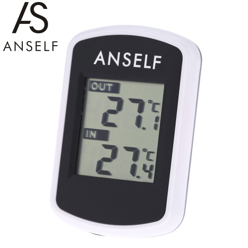 Anself LCD Digital Wireless Thermometer Temperature