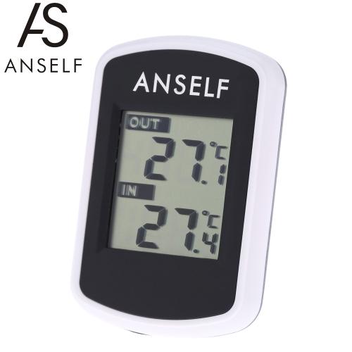 Anself LCD Digital Wireless Thermometer Temperatur