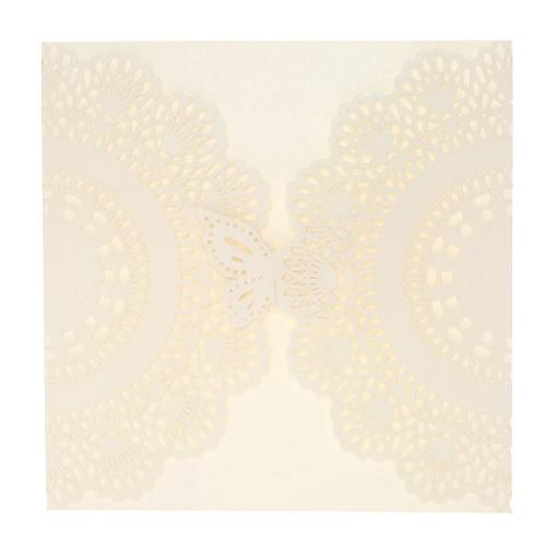 20ST-romantische Hochzeit Partyeinladung-Karte, die zarte geschnitzten Muster Bankett Dekoration