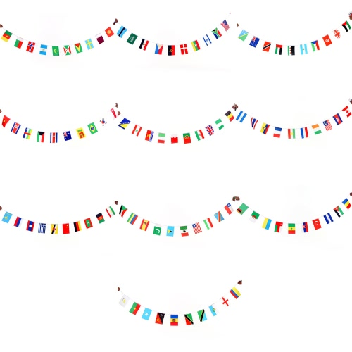 Anself 200 Countries World String Flag Hanging Flag Banner