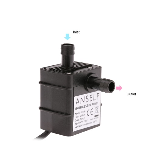 Brushless Aquarium Water Pump,USB DC 5V Micro Submersible Water Pump for Fountain Aquarium Circulating