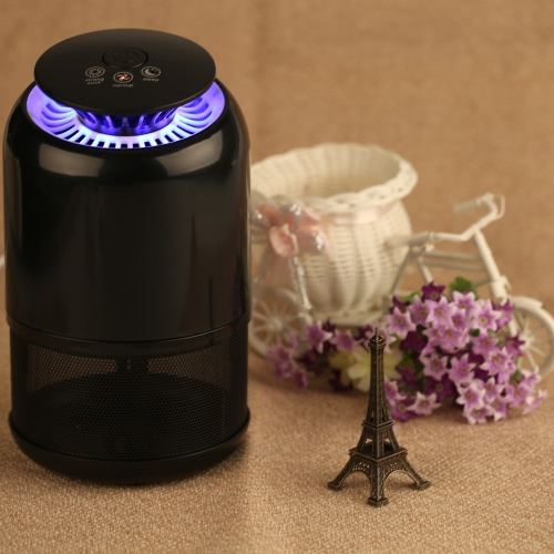 Smart UV Mosquito Killer Household LED Mosquito-Killing Trap Lamp Bug Flying Insect Pest Zapper Purple Lighting Sucking Device Night Light