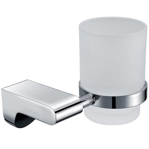 Homgeek Hochwertige Wand-Edelstahl-Mattglas-Cup Zahnbürste Becherhalter Zahnstangen-Aufhänger Küche Badezimmer