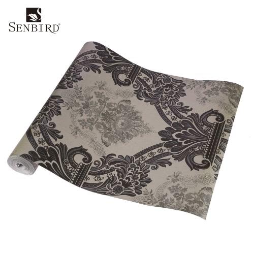 SENBIRD europejskie i amerykańskie Retro Style Gorgeous Tapety Kwiat Wzór włóknina Papier Tapeta Luxury Room Klasyczna tła dekoracji 0.53m * 10m = 5.3㎡