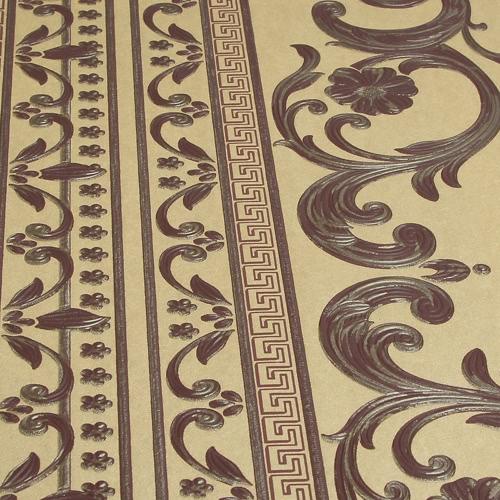 SENBIRD Luxe Classique Noble Motif Style européen Fond d'écran Fleur non-tissé Papier peint Retro Room Decoration Background 0.53m * 10m = 5.3㎡