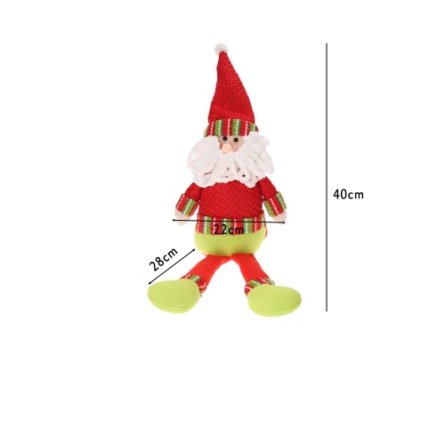 Festnight Hot Sale XMAS Lovely Decors Doll Christmas Santa Claus Snowman Dolls for Window Decoration Dinner Table Decorations Gift