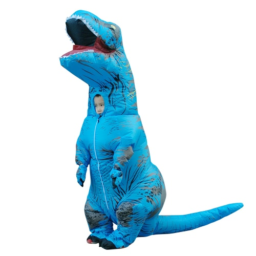 Funny Inflatable Dinosaur Trex Costume Suit Air Fan Operated Blow Up Halloween Cosplay Fancy Dress Animal Costume Jumpsuit