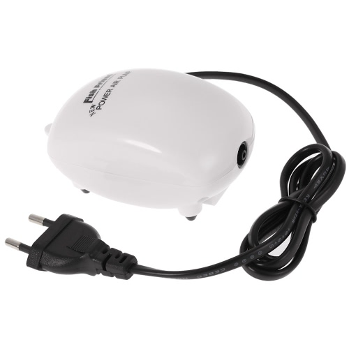 Ultra silencieux Aquarium Pompe à air simple sortie 2.5W 220-240V EU Plug Fish Tank pompe à air en oxygène