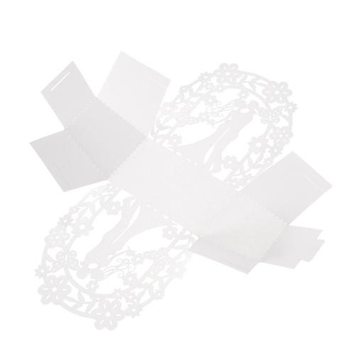50шт Нежная Мини DIY конфеты Cookie подарочные коробки Вырезанный шаблон с лентой партии Свадебный банкет Свадебные Поставки
