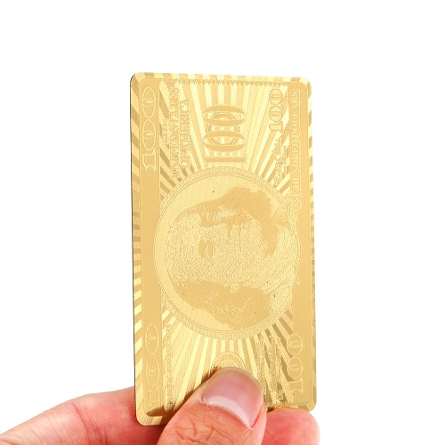 Luxury Gold Color 54pcs Playing Cards Deck Casino Leisure Board Table Game Poker Collection Gift Durable Waterproof