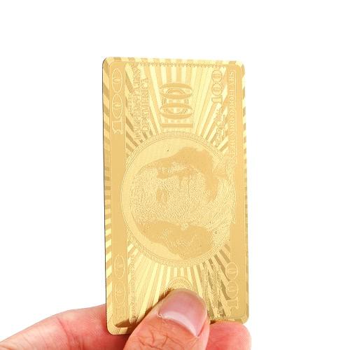 Роскошные цвета золота 54pcs играть карточек Палуба казино Досуг Настольные Настольная игра Покер коллекции подарков Прочный водонепроницаемый