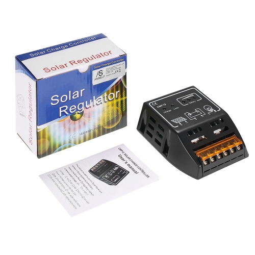 Anself 10A 12V/24V Solar Charge Controller Charging Regulator for Solar Panel Battery Overload Protection