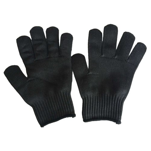 High-quality Cut Stab Resistant Level 3 Working Protective Gloves Anti Abrasion for Safety Police Butcher Kitchen Stainless Steel Wire with High-strength Polyester