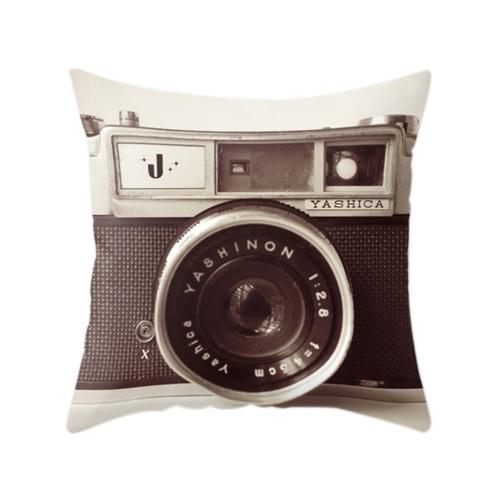 Vintage Retro Home 3D Camera Throw Pillow Case Cover Protector Decorative Bed Sofa Car Waist Cushion Decor Gift