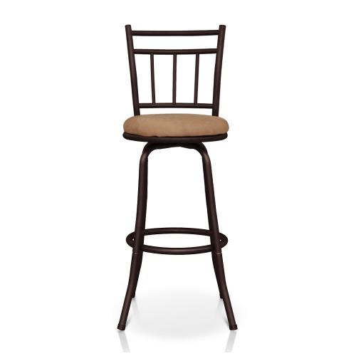 IKayaa Античный шарнирный барьер с спинкой Металлическая рама Кухня Обеденный стул Пена Мягкая 120 кг