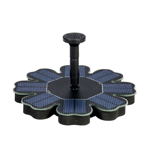 Decdeal Solar Pump Floating Water Fountain for Bird Bath Pond Garden Decoration 8V 1.6W Solar Panel Water Pump Kit New Version