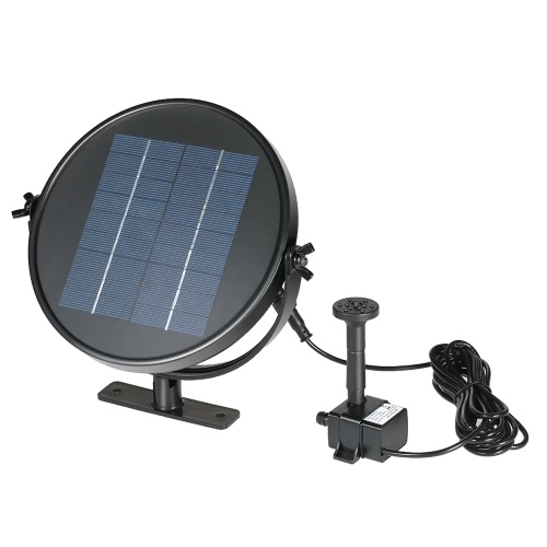 Anself 9V 2W Solar Panel Solar Powered Fountain Submersible Brushless Water Pump Kit for Bird Bath Pond Pull 190L/H 170cm Lift
