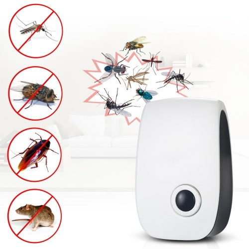 Electronic Ultrasonic Pest Repeller Non-toxic Mosquito Ants Spiders Roaches Repelling AC90V-250V