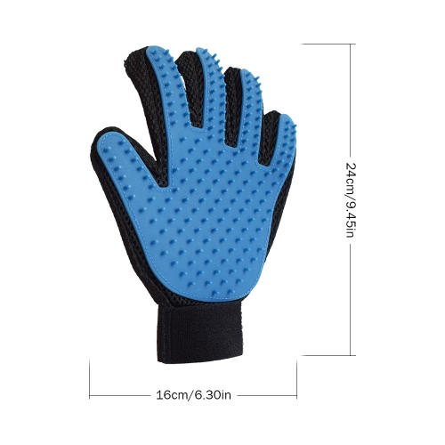 2 PCS Pet Dog Brush Glove Dog Hair Removal Grooming Glove Massage Cleaning Hair Brush For Dogs or Cats