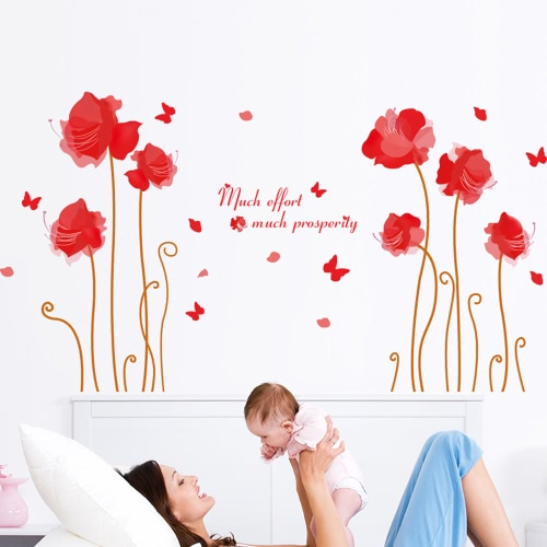 Cute Wall Sticker Removable Lovely Wallpaper Art Décalque Décoration Réutilisable Peel et Stick Wall Sticker pour enfants Stickers muraux