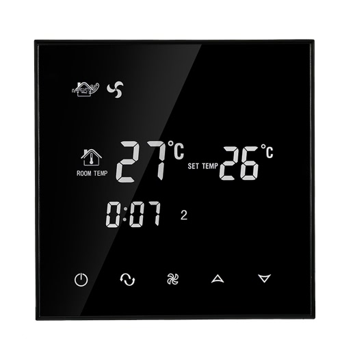 110-130V Air Conditioner 2-Pipe Thermostat with LCD Display Good Quality Touch Screen Programmable Room Temperature Controller Home Improvement Product